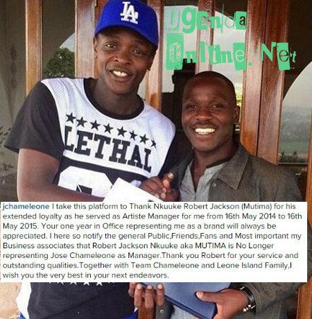 Chameleone appreciates efforts of hs ex-mananger