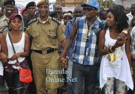 File Photo: IGP General Kale Kayihura and other artists