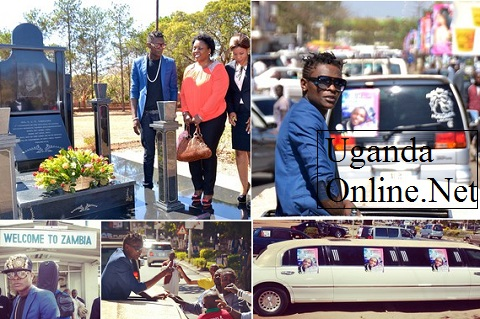 Jose Chameleone on arrival in Zambia, he also paid tribute to the late President Chiluba