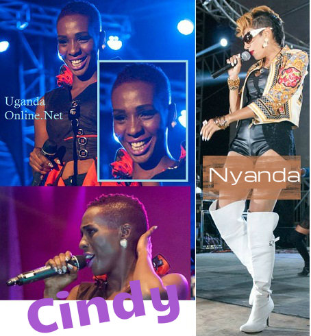 Cibndy and Nyanda at the Airtel Inspiring Women Concert