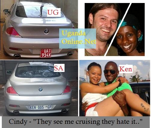 Cindy is now the proud owner of Ken Muyiisa's BMW