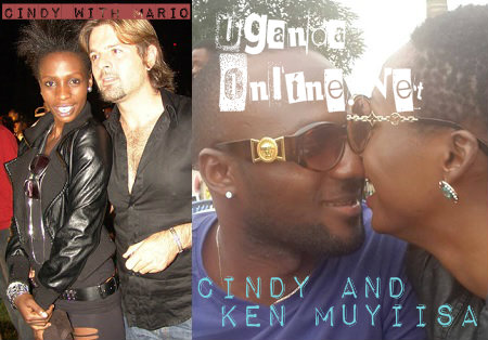 Cindy with her ex back then and her current lover Ken Muyiisa