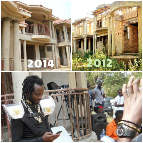 Bebe Cool at his apartments during the video shoot