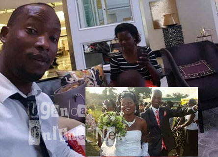 Mr. Economy and his baby mama-Inset is their wedding