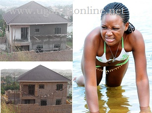 Model Debby Sempaka's house in it's final stages