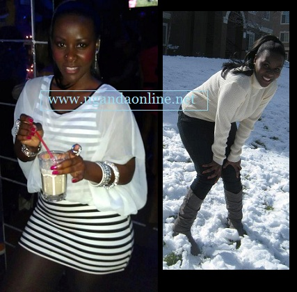 Desire Luzinda on a night out in Colorado and on the right she enjoys the snow