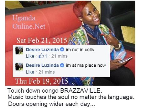 Desire Luzinda before she travelled to Congo