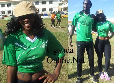 Desire Luzinda at the KCCA grounds