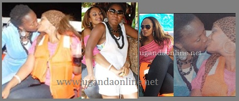 Zari and Sylvia kissing passionately on a boat cruise on Easter Monday
