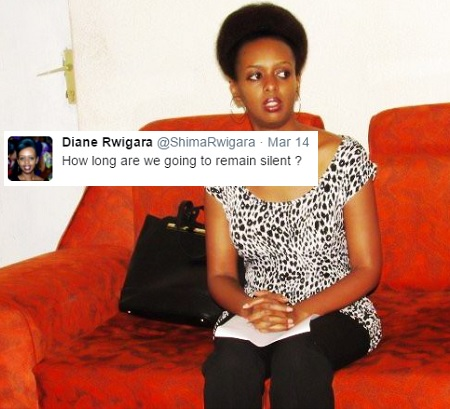 """""""""""How long are we going to remain silent"""" -Diane Rwigara"""