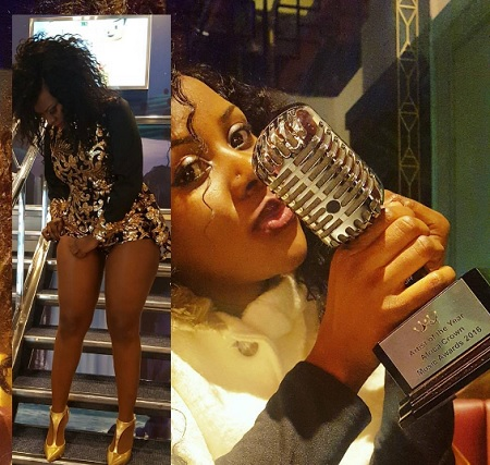 Desire showing of her award