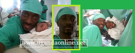 Matthew Nabwiso was right by Eleanor's side as she gave birth