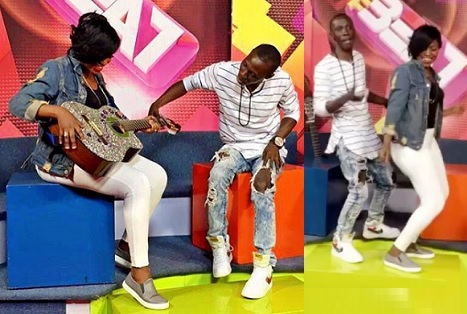 Irene Ntale and Douglas at the NTV studios