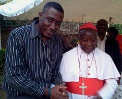 Roger Mugisha after being advised toget on board by Emmanuel Cardinal Wamala