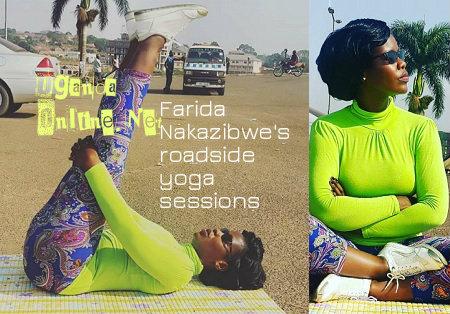 Faridah Nakazibwe's roadside yoga sessions