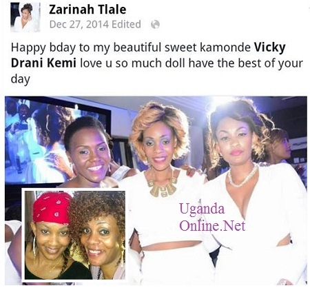 Sylvia Owori, Vicky Drani and Zari at the White Party recently