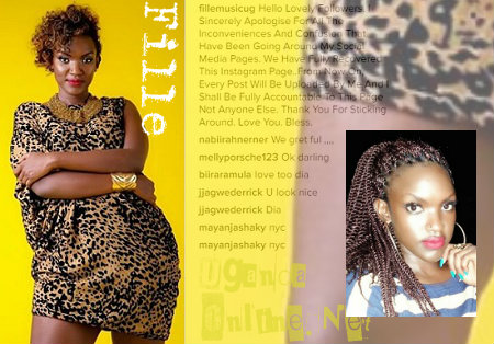 Fille Mutoni regains access of her IG account from Mc Kats
