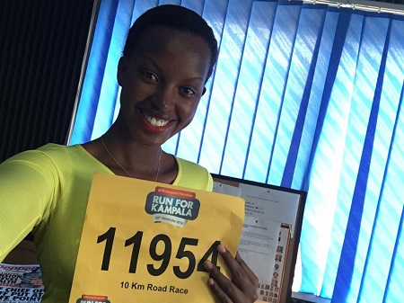 Flavia is all geared up for the 10Km race
