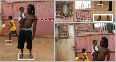 Bebe Cool with Caysan as Alpha plays basketball