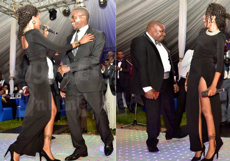 Sheebah taking on the Buganda Premier, Peter Mayiga