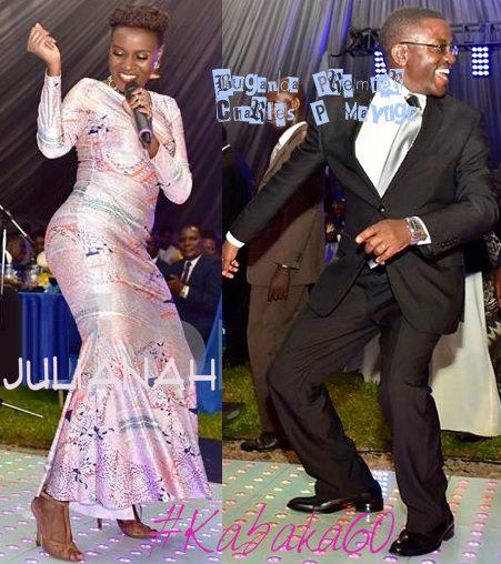 Juliana and Charles Peter Mayiga dancing the night away