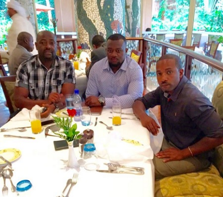 Gitawo and Meddie meeting a Guvnor Manager