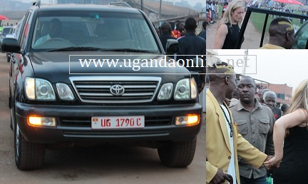 Kick-boxer Moses Golola being helped out of the State House vehicle