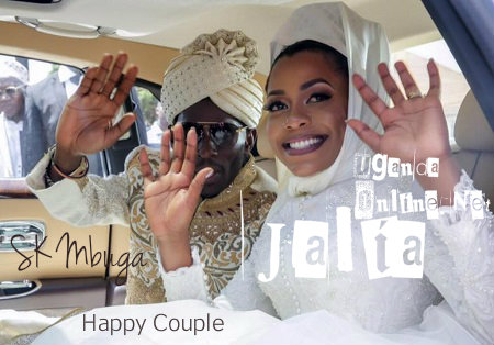 SK Mbuga and Jalia wave to their guests