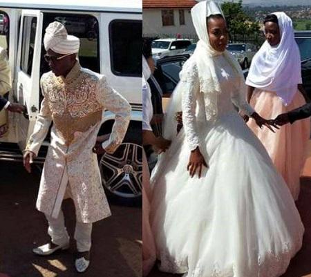 SK Mbuga and Jalia on their wedding day