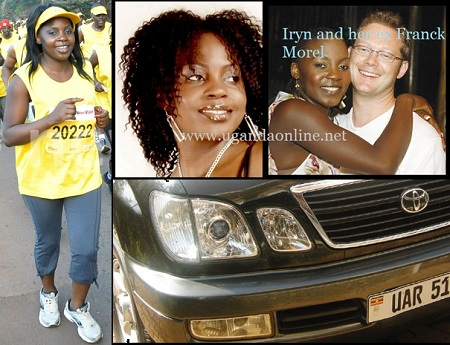 Iryn Namubiru at the MTN Marathon and with ex hubby during the happy times. Inset is her Cygnus.