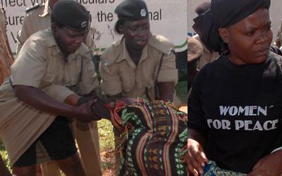 IPC Women arrested at EC Offices on Jinja Road
