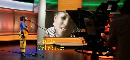 Irene Ntale performing live on BBC