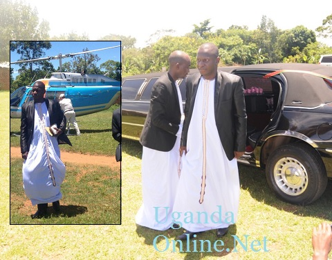 Joel Isabirye used a chopper and linmousine as he travelled to his in-laws