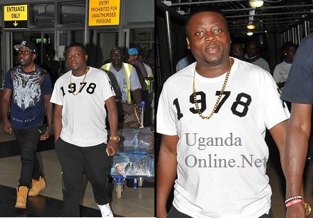 Ivan on arrival at Entebbe airport