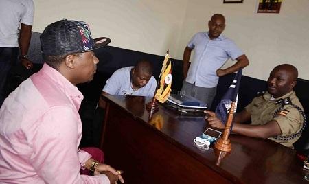Sadat and Ivan at Jinja Road Police