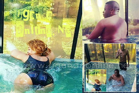 Zari and Ivan hanging out at a Jacuzzi