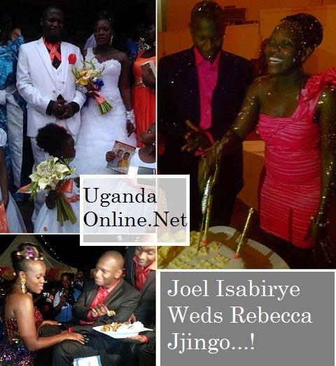 Joel Isabirye and Rebecca Jjingo on their wedding day
