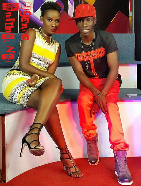 Juliana and NTV's Douglas Lwanga