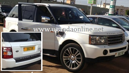 Chameleone's Range Rover now has 'DOCTOR' number plates