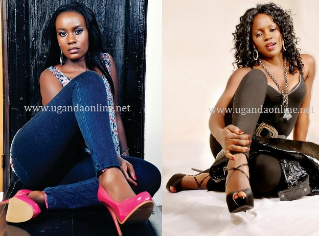 Juliana and Iryn pose in a similar way during photo shoots