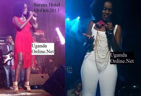 Juliana thrilling fans at Serena Hotel