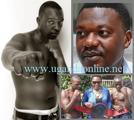 Malik Kaliisa has humbled ''Bill Gates'' and inset is Malik, Sylvia with the belt that was won by Titus Tugume.