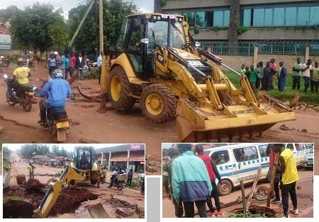 KCCA engineers at work following Bobi Wine's call