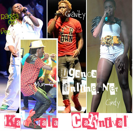 Some of the artistes that performed at the Carnival
