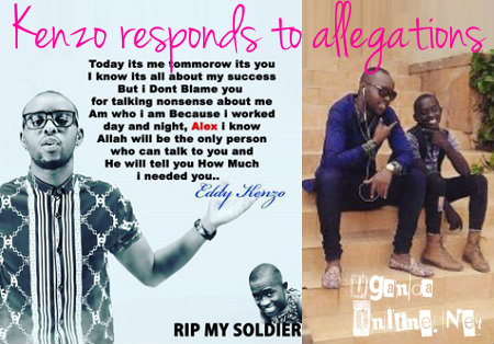 Kenzo responds to allegations that he had a hand in the death of Alex