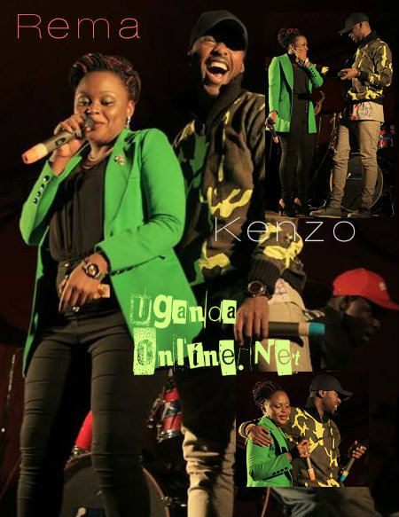 Rema and Kenzo performing at a function recently