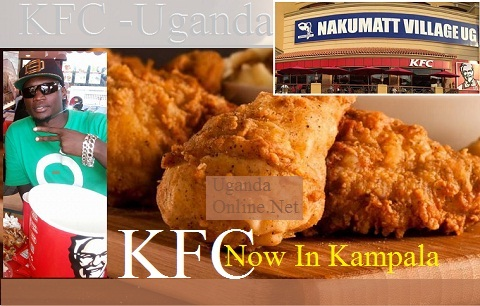 Peter Miles at the newly opened KFC outlet in Bugolobi