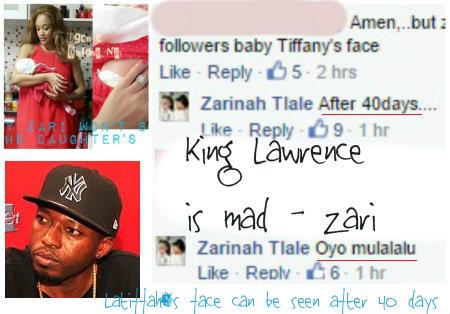 King Lawrence is mad - Zari