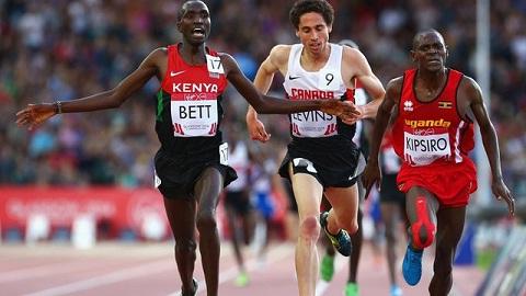 Kenya's Bett thought he had taken this one