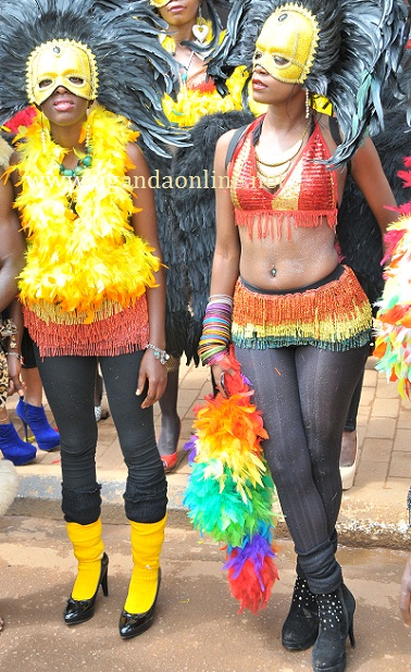 Some of the babes at the KCCA Carnival yesterday